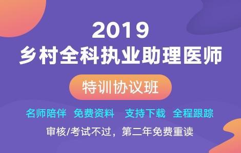 2019年乡村全科助理医师特训协议班