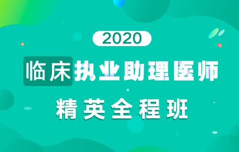 2020临床执业助理医师精英全程班